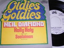 """7"""" - Neil Diamond Holly Holy & Soolaimon - 1973 White Label Promo # 5475"""