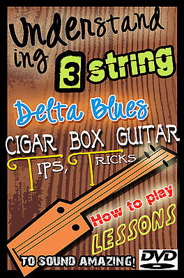 3 String Guitar Lessons - How To Play Cigar Box Slide & Fretted Old Time Blues äRger LöSchen Und Durst LöSchen