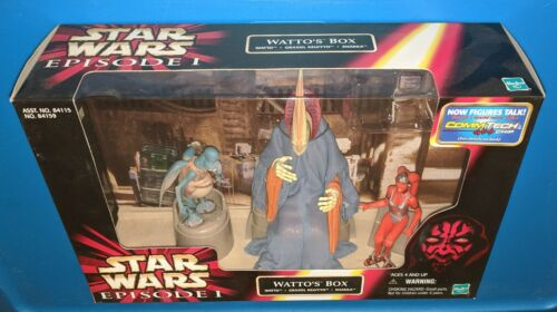 "STAR WARS 3 3//4/"" 3-PACK CINEMA SCENES  POTF EI  HASBRO 1994-1999 MIB"