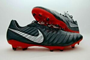 the latest 09655 b0620 Details about Nike Tiempo Legend 7 VII Pro FG Soccer Cleats Black Red Mens  AH7241 006