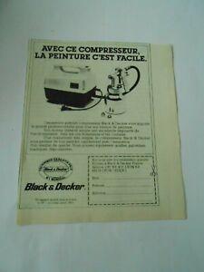 Publicite-de-Presse-1966-Black-amp-Decker-Compresseur-la-peinture-c-039-est-facile