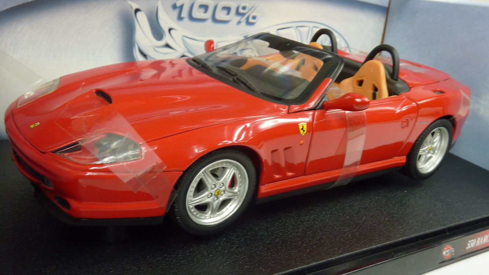 HOT WHEELS 1 18 n. 29441 FERRARI 550 BARCHETTA PININFARINA Cabrio in scatola originale (a673)