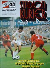 Programm 1985/86 Bayer 04 Leverkusen - Werder Bremen
