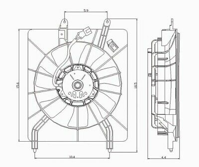 TYC 610940 Acura TSX Replacement Condenser Cooling Fan Assembly