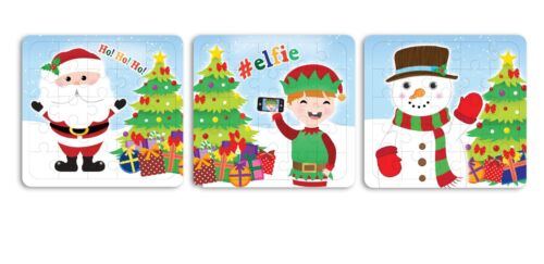 Xmas Stocking Fillers Pack of 3 Christmas Mini Puzzle Games Party Favours
