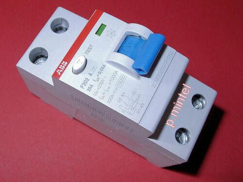 ABB FI-Schutzschalter F202A-25/0,03, 25A, 2-polig, 30mA