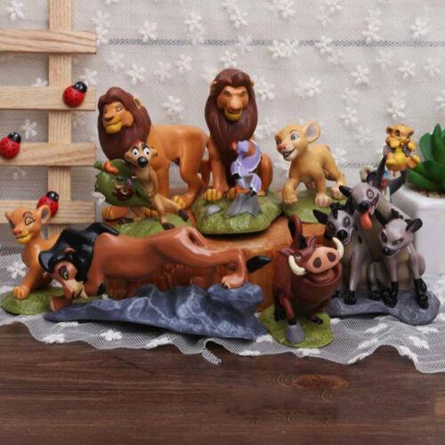 Ensemble De 9 Pcs Le Roi Lion Cake Topper Figurines  Jouet Ensemble Simba Poupée