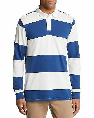 Pacific /& park Striped Rugby Shirt White Navy Size Large L