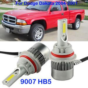 Details About Car Front 9007 Hb5 Led Headlight Kit Bulb For Dodge Dakota 2004 2001 Beam 6000k