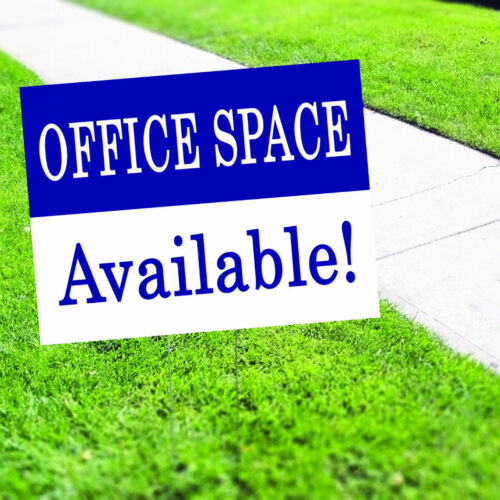 Office Space Available Plastic Indoor Outdoor Coroplast Yard Sign