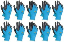 3m Blue Thin Work Gloves Woman Nitrile Rubber Coated Touch Screen Bulk 10 Pack