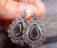 925 Silver MYSTIC TOPAZ Earrings E467~Silverwave*uk Jewellery