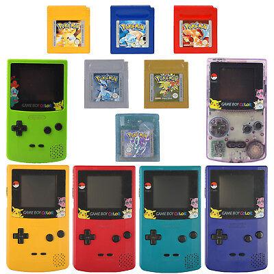 Nintendo Gameboy Color Konsolen Pokemon Spiele +  mit neuer Bildschirmscheibe