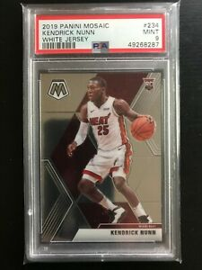 2019-20 Panini Mosaic Kendrick Nunn Rookie Variation SP #234 PSA 9 Mint HEAT RC