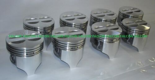 """.060/"""" 1962-69 Chevy 327 Sealed Power//Speed Pro Cast Flat Top Pistons Set//8"""