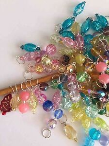 Knitterbabe-Glass-Bead-Stitch-Markers-x-4-per-set-Up-to-5-0mm-needles
