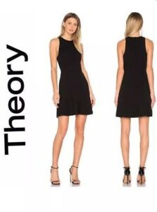 05d12ab63cc Image is loading 355-Theory-Felicitina-Sleeveless-Black-Fit-amp-Flare-