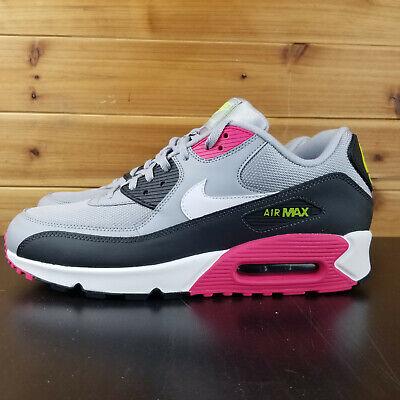 Nike Air Max 90 Essential AJ1285 020 Grey White Pink Volt