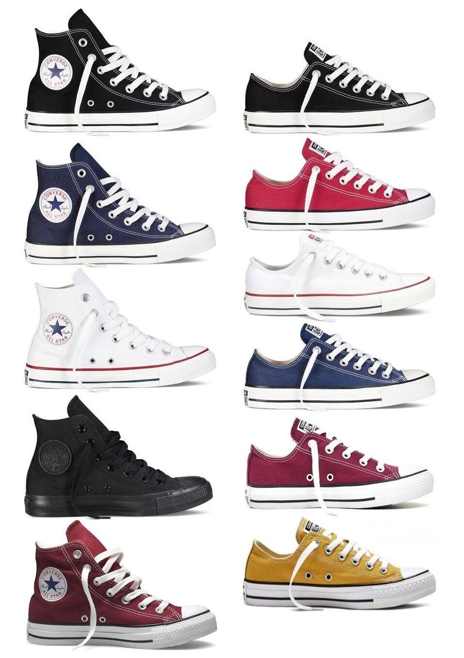 Zapatos promocionales para hombres y mujeres CONVERSE CHUCK TAYLOR ALL STAR BASSE ALTE scarpe sneakers uomo donna tessuto run