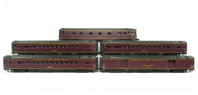 MTH 20-6514 N&W Streamlined Passenger Set (Ribbed) LN