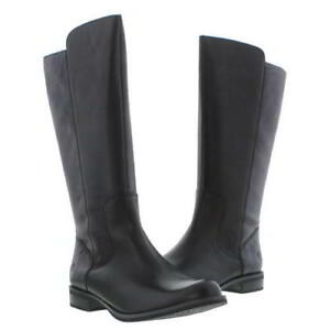 Details about Timberland Magby Tall Womens Ladies Black Leather Zip Boots  Size 4-8 96d3f74603