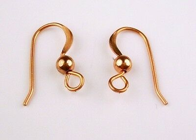 COPPER FRENCH EAR WIRE 16MM WITH 3MM BEAD 100 PCS.(  MADE IN USA)