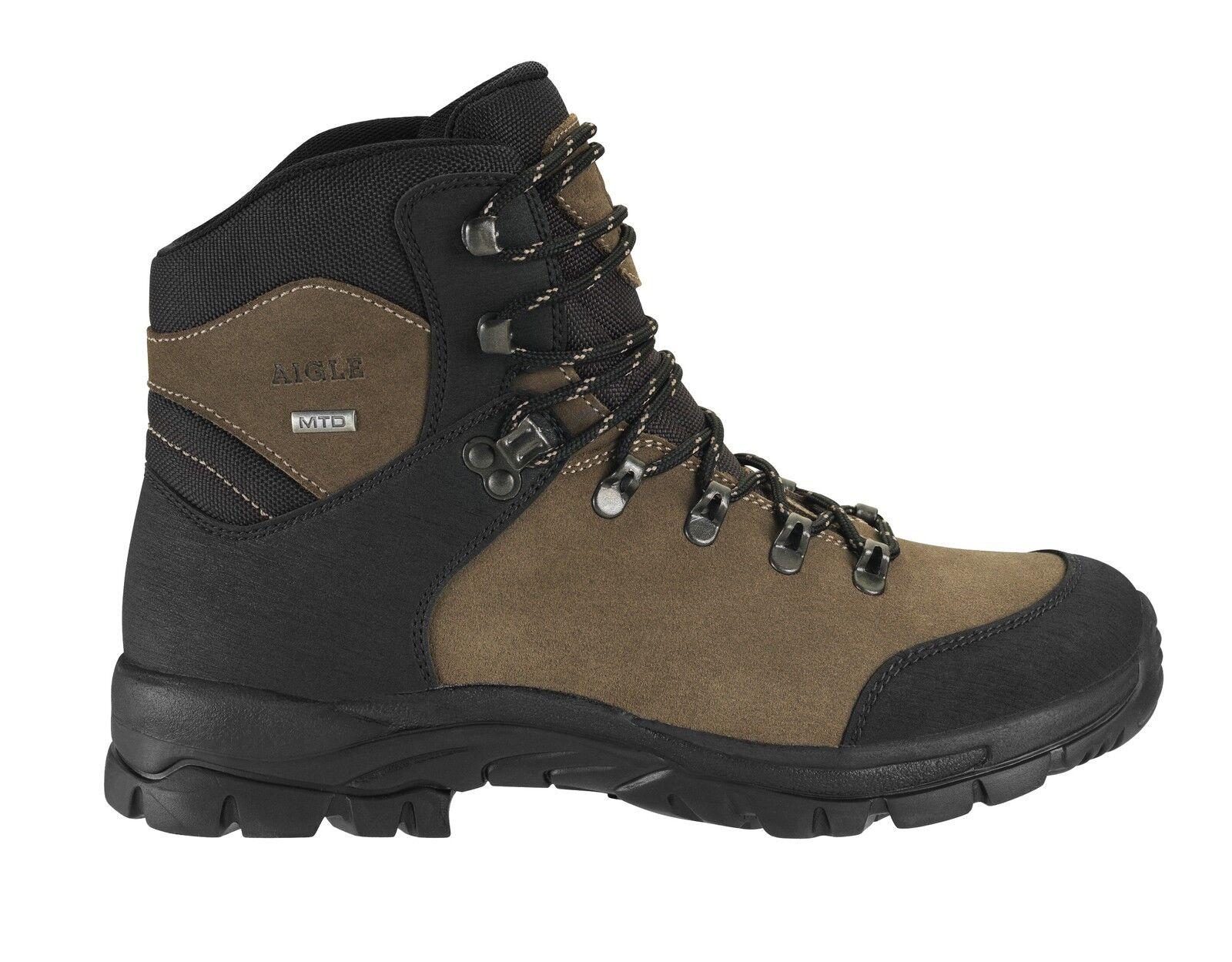 Caqui y Negro Cherbrook botas por Aigle Senderismo Cómodo Camping botas