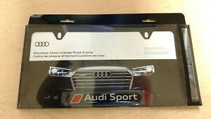 Audi Plate Frame >> Details About Audi Genuine Oem License Plate Frame Stainless Steel 8k0 071 801 Dx9