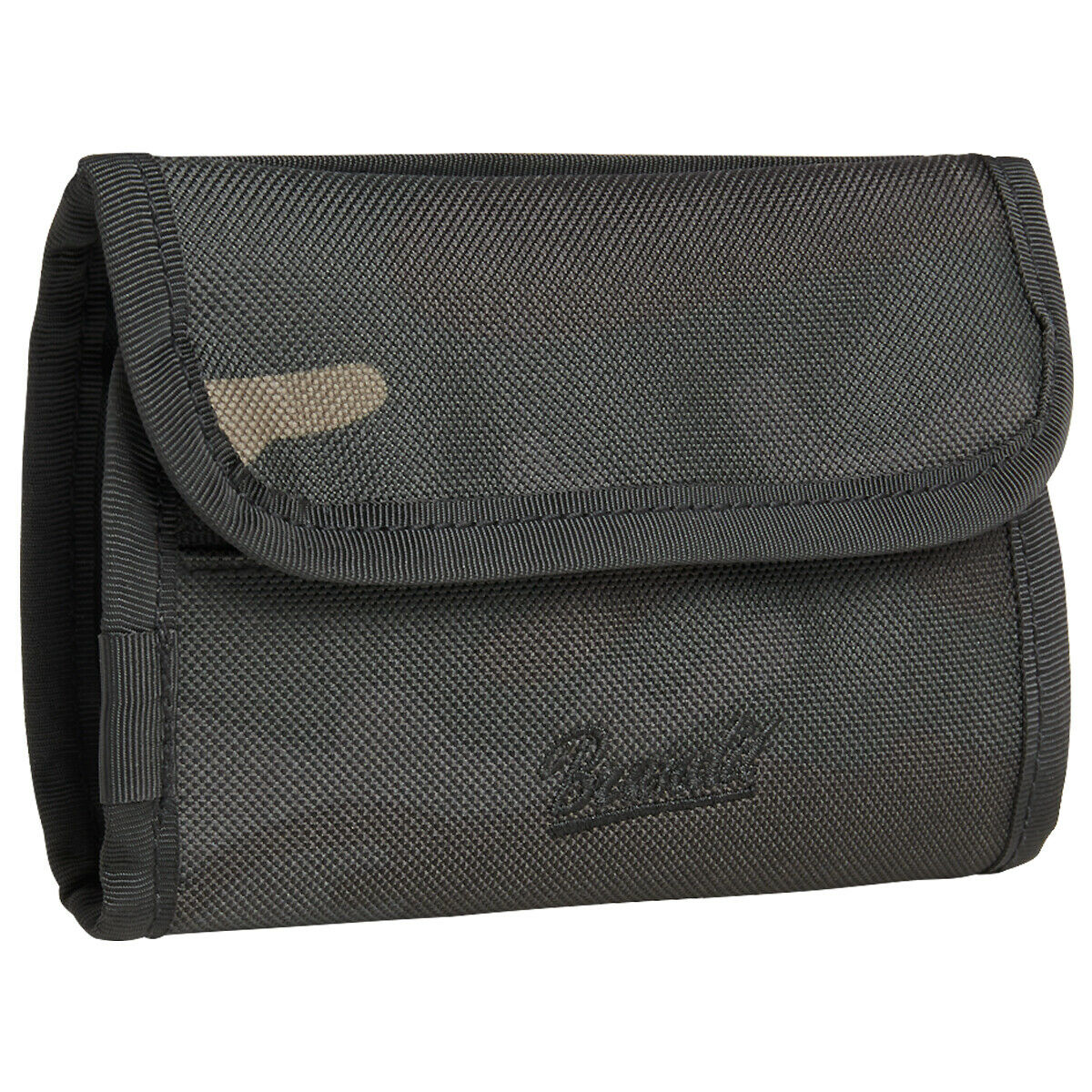 Brandit Wallet Two Zipped Coin Compartment Card Slots Foldable Travel Dark Camo