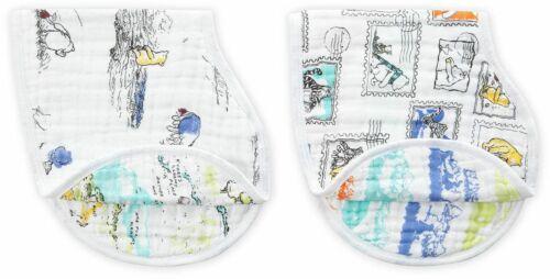 Anais Disney Baby Classic Bajoterra Babero 2 Pack Winnie Pooh Algodón Nuevo Y En Caja Aden