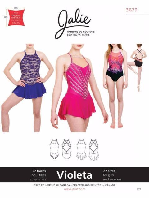 Jalie Violeta Open Back Leotard And Dress Skating Costume Sewing Impressive Leotard Pattern