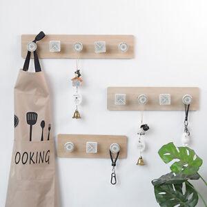 Details About Nordic Wooden Hook Wall Hooks Peg Hallway Hat Jacket Coat Hanger Diy Storage Kit