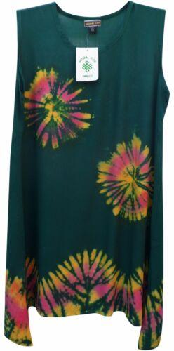 NEPALESE TIE DYE COTTON SUMMER SUN DRESS 10 12 14 16 18