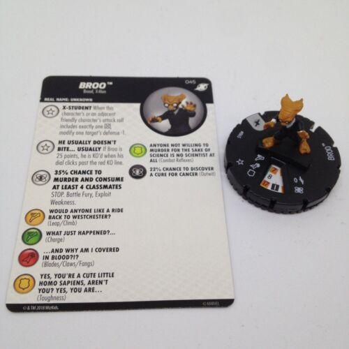Heroclix X-Men Xavier/'s School set Broo #045 Rare figure w//card!
