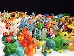 Ensemble complet de 90 ensembles de figurines de Pokemon Bandai de 1ère génération datant des années 90, ensemble complet