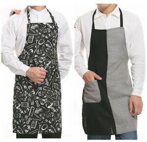 Grillschuerze-Profi-Kochschuerze-Kochen-Schuerze-mit-Taschen-amp-variable-Schlaufe