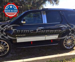 2007-2014-Cadillac-Escalade-SUV-Shorter-Rocker-Panel-Trim-Body-Side-Molding-4Pc