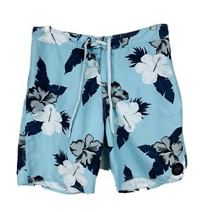 Ripcurl-Mens-Swim-Shorts-Size-30-Floral-Blue-Board-Shorts-Good-Condition