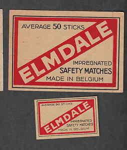 Ancienne étiquette Allumette Belgique Bn2896 Elmdale Fckjh7ru-07235231-481861965
