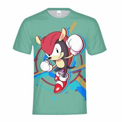 Kid//Youth So-nic The Hedg-ehog T-Shirts 3D Print Short Sleeve Graphics Tees for Boys Girls