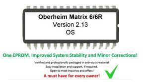 Oberheim-Matrix-6-6R-Version-2-13-Firmware-Upgrade-Update-OS-Eprom-New