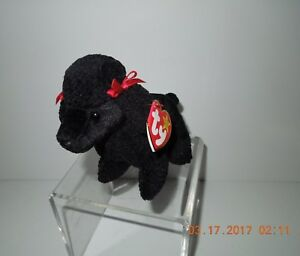 d85f68fc346 Image is loading MNWT-Retired-1997-Ty-Gigi-Black-Poodle-Beanie-