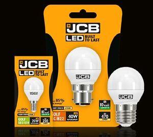 Jcb-3w-25w-6w-40w-Led-Balle-de-Golf-Ampoule-BC-B22-Es-E27-Ses-E14-Blanc