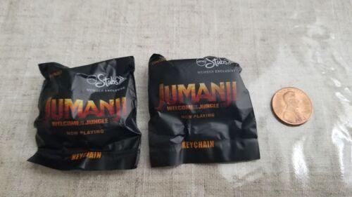 Jumanji Key Chain Movie Promo 2017 set of 1 Rhino and Hippo unopened new