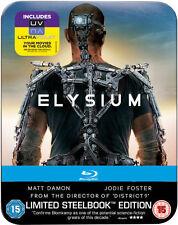 ELYSIUM (Matt Damon, Jodie Foster) Blu-ray Disc, Steelbook NEU+OOP U.K.