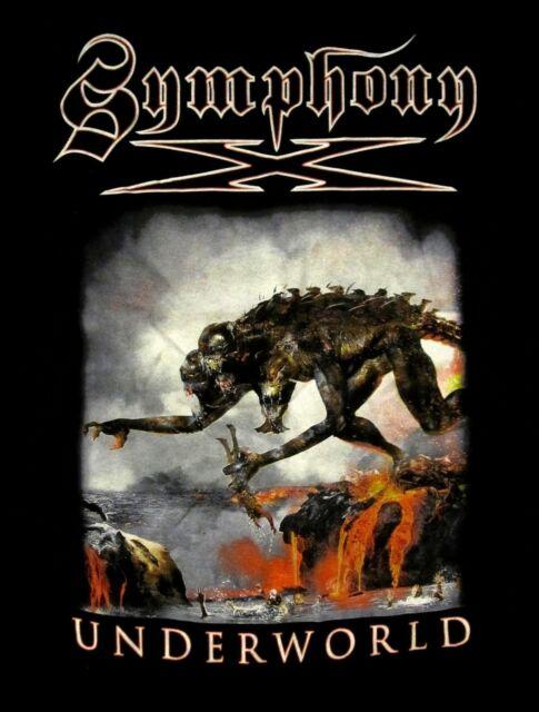 SYMPHONY X cd cvr UNDERWORLD MONSTER DATES Official Tour SHIRT SMALL new