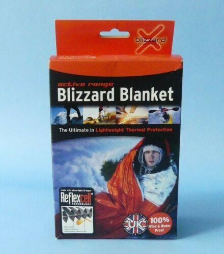 BLIZZARD ACTIVE RANGE BPS AR-10 REFLEXCELL EMERGENCY BLANKET ORANGE NEW IN BOX