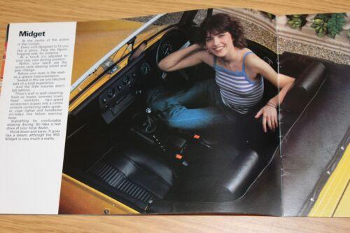 Gamma MG A COLORI BROCHURE DI VENDITA MG MIDGET MGB MGB GT NOVEMBRE 1978