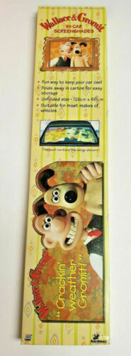 """Vintage Wallace and Gromit Car Windscreen 50/"""" Sun Shade Protector 1990/'s Rare"""
