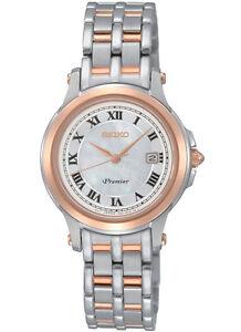 Seiko Premier SXDE42P1 SXDE42 Ladies Watch WR100m two-tone NEW RRP $775.00